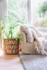 Love Lives Here jute basket