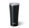 tumbler with matte black and glass black dragon scale design