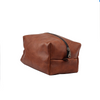 brown distressed leather dopp kit