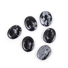 6 of the snowflake obsidian serenity stones to show variation in the stones