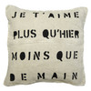 je t'aime sugarboo pillow