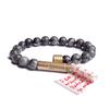 matte labradorite beaded bracelet