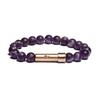 matte amethyst wishbead bracelet