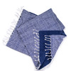 polka dot cotton towel with terry lining