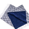 zig zag cotton towel with terry lining