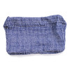 polka dot terry lined pouch