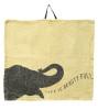 Elephant napkin in beige
