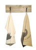 animal napkin in beige and cream to show color difference