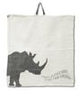 Rhino napkin in cream
