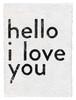 hello I love you handmade paper print