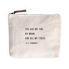 you are my sun canvas zip bag