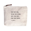 sing you song canvas zip bag
