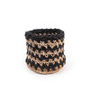 Knitted Black Jute Basket  - large