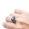 Large Labradorite Stone Ring
