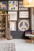 PEACE with gallery wrap frame