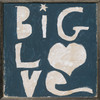 Big Love art print with grey wood frame