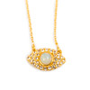 Gold Evil Eye Necklace with Opal