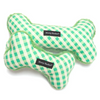Harry Barker green gingham dog toy