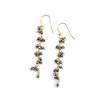 Pyrite Stone Gold Earrings