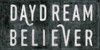 Daydream Believer art print with black background