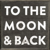 To The Moon and Back art print with black background with greywood frame