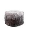 Grey to Charcoal Ombre Tibetan Fur Pouf
