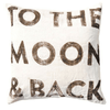 to the moon and back pillow
