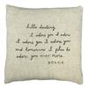 Letter #2 Pillow