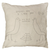 two birds stitched pillow