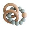 Beechwood Teether Rings Set - Sage
