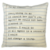 to my lovely pillow