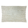 rectangle gold and beige knit pillow