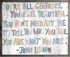 You're All Geniuses art print with greywood frame