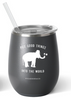 Sugarboo 14oz. Stemless Wine Cup - Matte Grey
