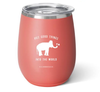 Matte Coral Stemless Wine Cup (14oz)