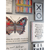 butterfly art print on gallery wall