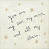 My Sun, My Moon art print with yellow stars