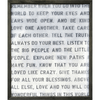 Remember When You Go art print with greywood frame