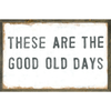 Good Old Days art print with greywood frame