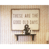 Good Old Days art print with greywood frame