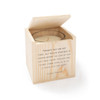 Eskimo Proverb - Blessing Candle with Engraved Wood Box