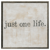 Just One Life art print with greywood frame
