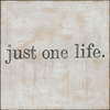 Just One Life art print with gallery wrap frame