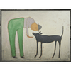 Man with Dog art print
