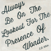 Always be on the Lookout art print