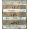 Love You Madly art print with greywood frame