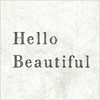 hello beautiful art print with gallery wrap frame