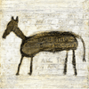 brown horse on a cream background