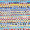 multicolored zigzag art print