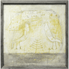 art print features two birds on a cream/greenish background